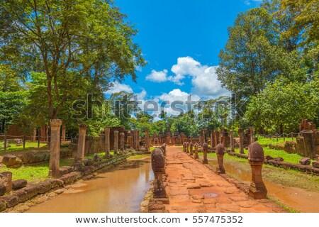 Banteay Srei Temple entrance pathway Stock photo © tuulijumala