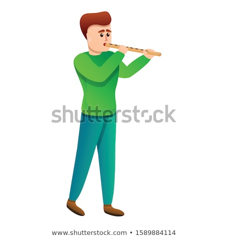 Portrait of boy playing flute Stock photo © zzve