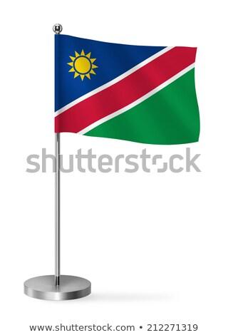 ミニチュア フラグ ナミビア 孤立した 青 ストックフォト © bosphorus