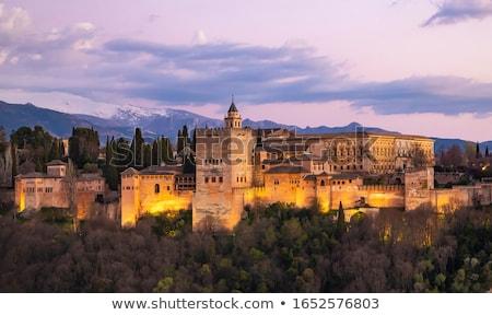 известный · Альгамбра · дворец · Испания · строительство · пейзаж - Сток-фото © capturelight