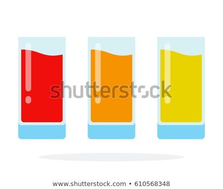 Сток-фото: три · очки · различный · цветы · фрукты · стекла