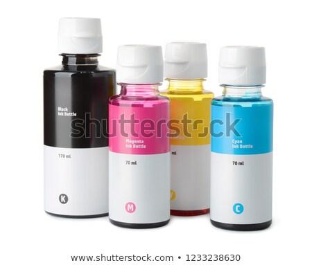 Tinta patron szett tintasugaras nyomtatott kék Stock fotó © simpson33