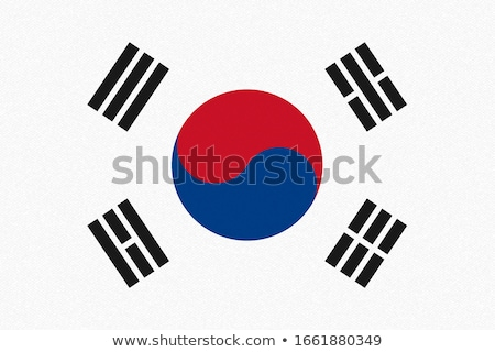 national colours of South Korea Stock photo © perysty