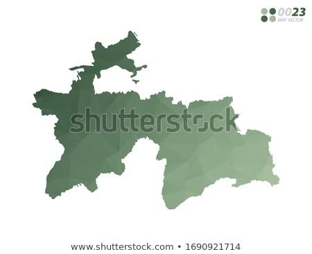 Green Tajikistan map Stock photo © Volina