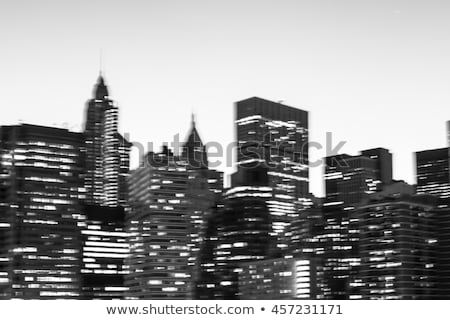 Foto stock: Manhattan · arranha-céus · crepúsculo · cityscape · topo