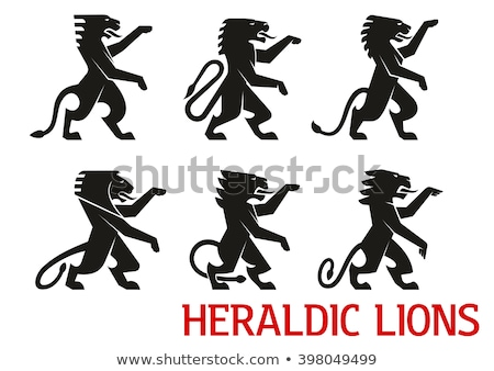 Stock photo: silhouettes and icons on the medieval theme