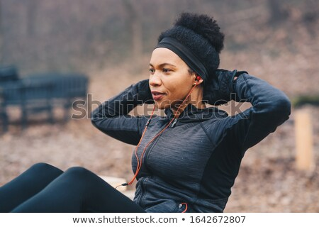 woman doing situp exercise stock photo © get4net