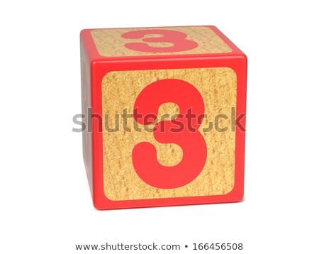 number 3   childrens alphabet block stock photo © tashatuvango