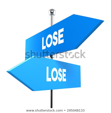 Lose lose situation, opposite signs Stock photo © stevanovicigor