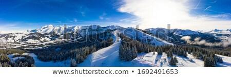 Kayak · başvurmak · fransız · alpler · Fransa - stok fotoğraf © anshar