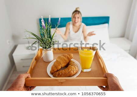 男 · 朝食 · ガールフレンド · 少女 · 笑顔 · コーヒー - ストックフォト © nenetus