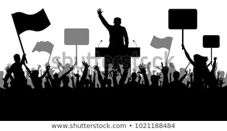 Político simbólico quadro xadrez globo céu Foto stock © grechka333