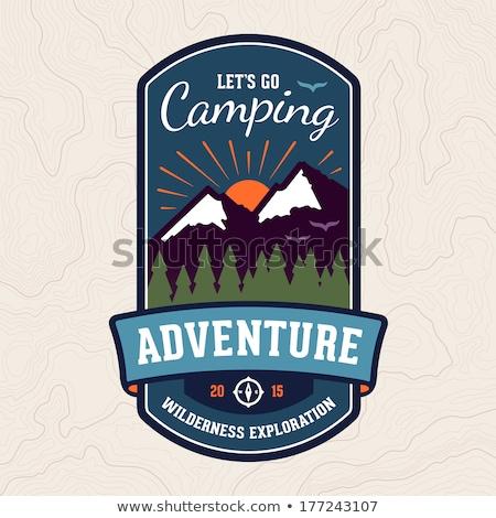 Stockfoto: Camping Adventure Badge Emblem