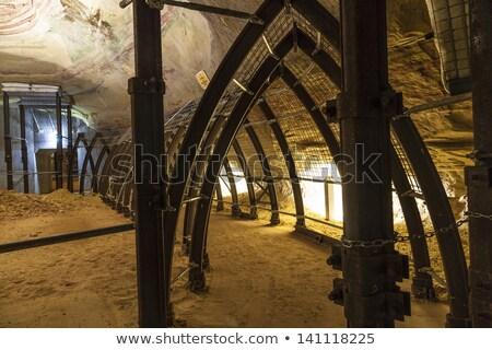 ünlü kumtaşı mayın tünel güvenli yeraltı Stok fotoğraf © meinzahn