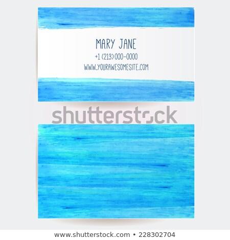 アイデンティティ 青 マーカー 手 書く 透明な ストックフォト © ivelin