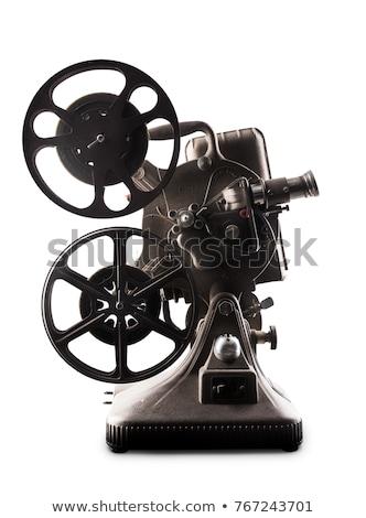 öreg 8mm film kamera fehér izolált technológia Stock fotó © artush