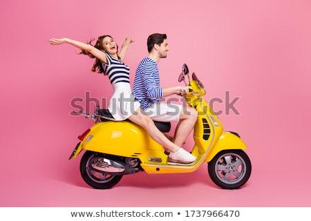 pár · szórakozás · esik · az · eső · boldog · fiatal · pér · szép - stock fotó © dnf-style