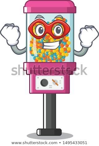 Vliegen automaat cartoon illustratie grappig glimlach Stockfoto © izakowski