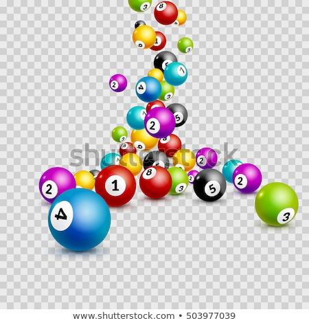 Bingó golyók szett fehér sport piros Stock fotó © Viva