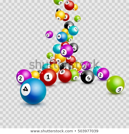 loteria · números · branco · grupo · bola - foto stock © viva