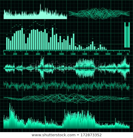 Sound waves set. Music background. EPS 10 Stock photo © beholdereye