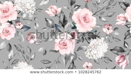 бесшовный цветочный шаблон clipart цветок текстуры Сток-фото © phyZick
