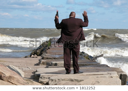African American preacher giving sermon stock photo © jeffbanke