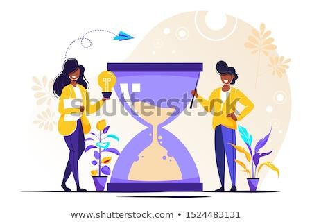 時間 アップグレード メッセージ 印刷 紙 ストックフォト © stevanovicigor