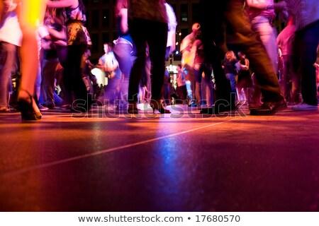 dança · luz · silhueta · ilustração · casal · mulher - foto stock © rudall30