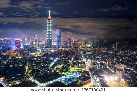 beautiful city night scene in Taipei Stock photo © elwynn