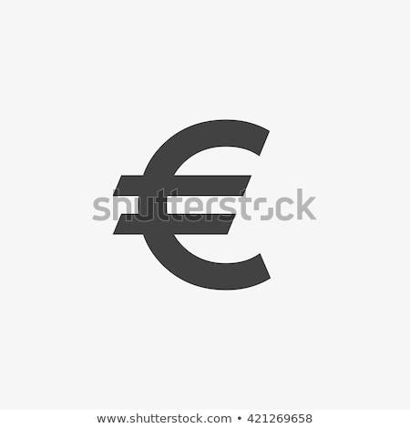 euro · assinar · conchas · areia · cópia · espaço · negócio - foto stock © ilolab