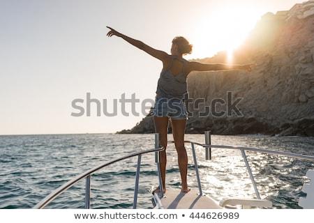 groep · haven · sport · landschap · zee · zomer - stockfoto © nejron