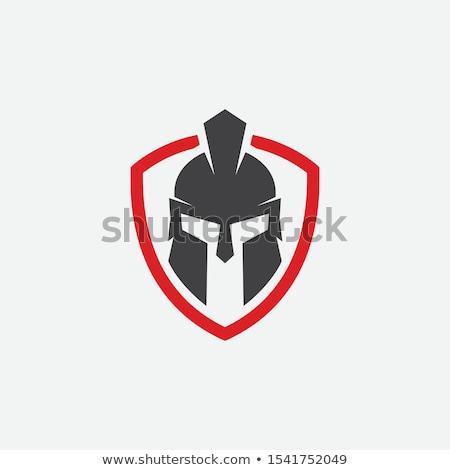 Spartan helmet, armor and shield Stock photo © ankarb