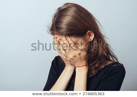 Jeunes asian femme hurlant déception portrait Photo stock © bmonteny