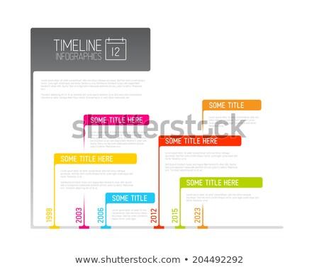 カラフル インフォグラフィック タイムライン レポート テンプレート フラグ ストックフォト © orson