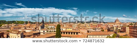 lovas · szobor · Róma · Olaszország · égbolt · épület - stock fotó © dserra1