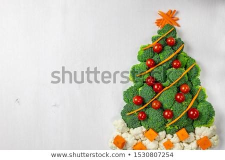 kerstboom · groenten · voedsel · abstract · achtergrond · tomaat - stockfoto © m-studio