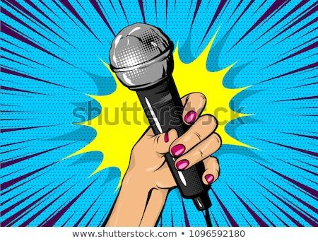 Microphone for Karaoke and hand Stock photo © FrameAngel