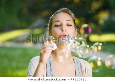 Kadın sabun köpüğü bayan seksi Stok fotoğraf © konradbak