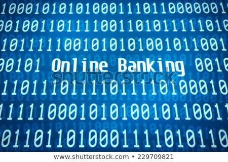 binary code with the word online banking in the center stock photo © zerbor