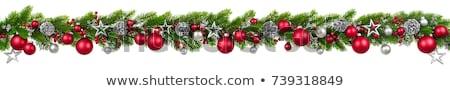 Navidad decoración blanco rojo colores chuchería Foto stock © dariazu
