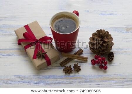 red tea cinnamon sticks star anise and conifer cone stock photo © Rob_Stark