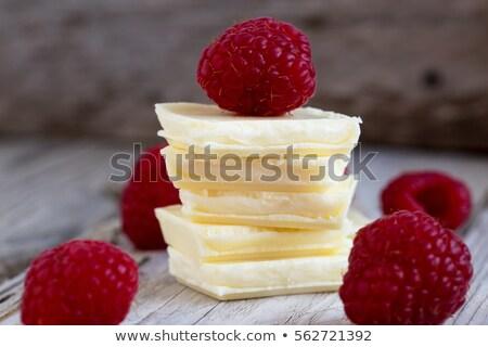 Foto stock: Branco · enchimento · chocolate · fundo · doce