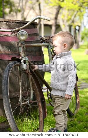 meraklı · küçük · erkek · aile · yüz · vücut - stok fotoğraf © vladacanon