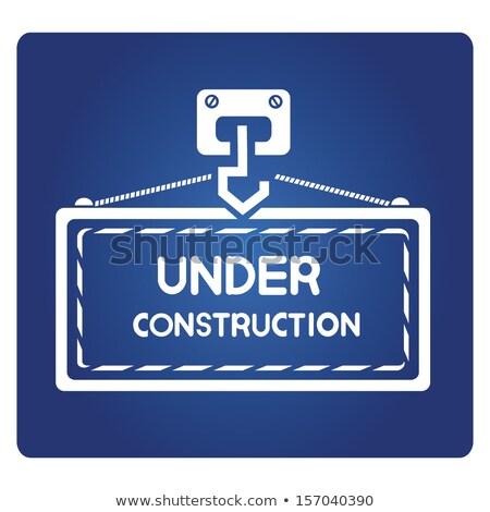 Budowy niebieski wektora ikona przycisk Internetu Zdjęcia stock © rizwanali3d