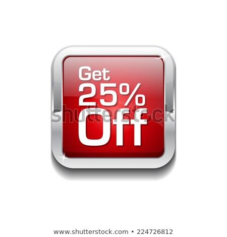 zapisać · 25 · procent · czerwony · wektora · ikona - zdjęcia stock © rizwanali3d