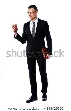 портрет бизнесмен Кубок кофе Сток-фото © deandrobot