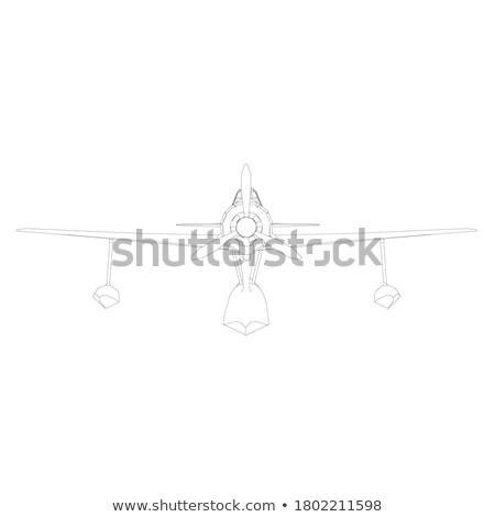 öreg harc repülőgép levegő fény repülőtér Stock fotó © leonido