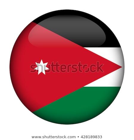Kaart vlag knop Jordanië vector afbeelding Stockfoto © Istanbul2009