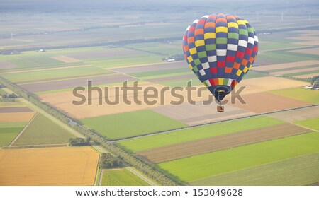 Aerial view at air balloon with Dutch landscape Stock photo © gigra